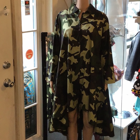 Camo high lo dress plus size NWT